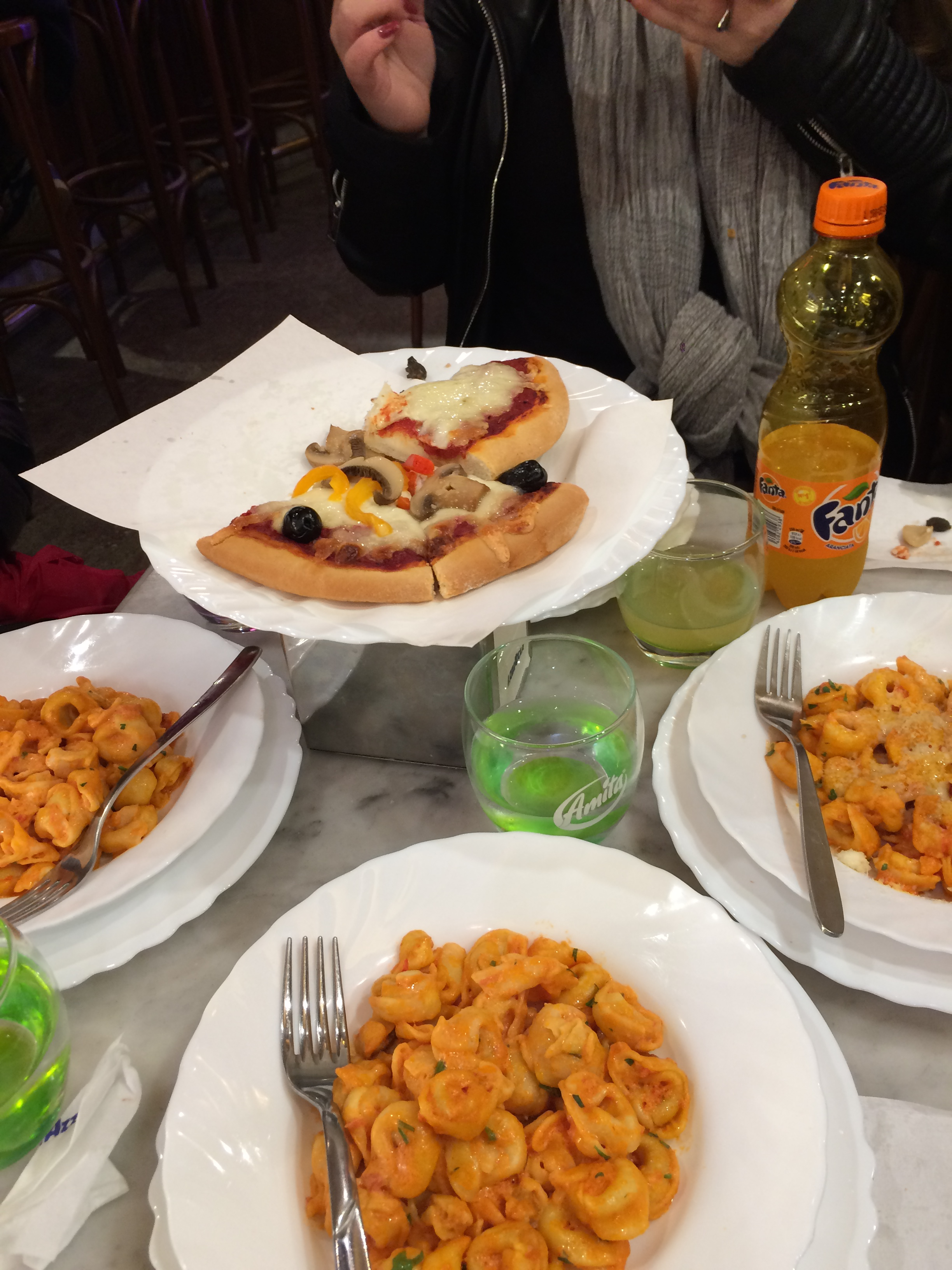 Image of pasta and pizza